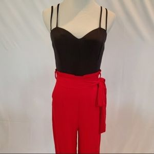 2 for $40 NWT Red & Black Strappy Jumpsuit